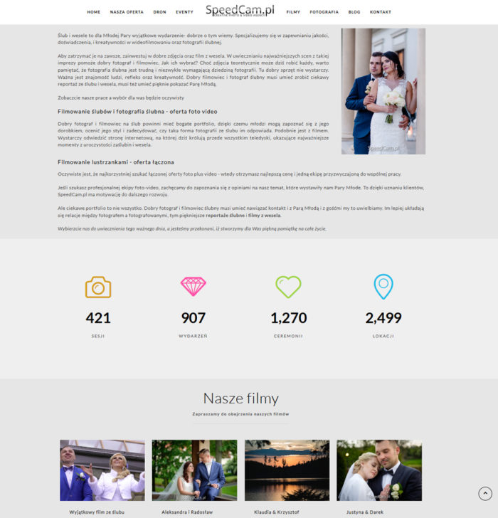 wideofilmowanie ślubów - strona filmowców